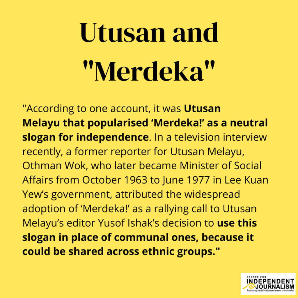 This is what Assistant Professor Imran Tajudeen, from the National University of Singapore (NUS), had to say about Utusan and Merdeka.  (Part 1 of 2)  #MemoriMediaMerdeka
